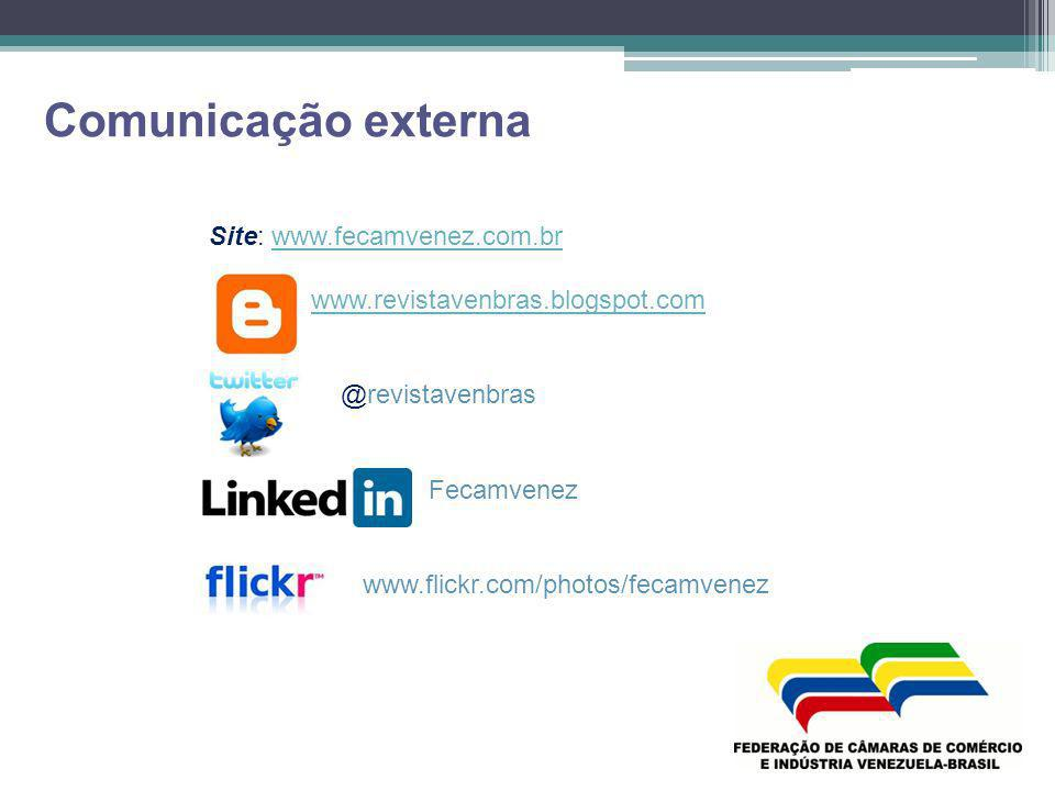 Comunicação externa Site: www.fecamvenez.com.br