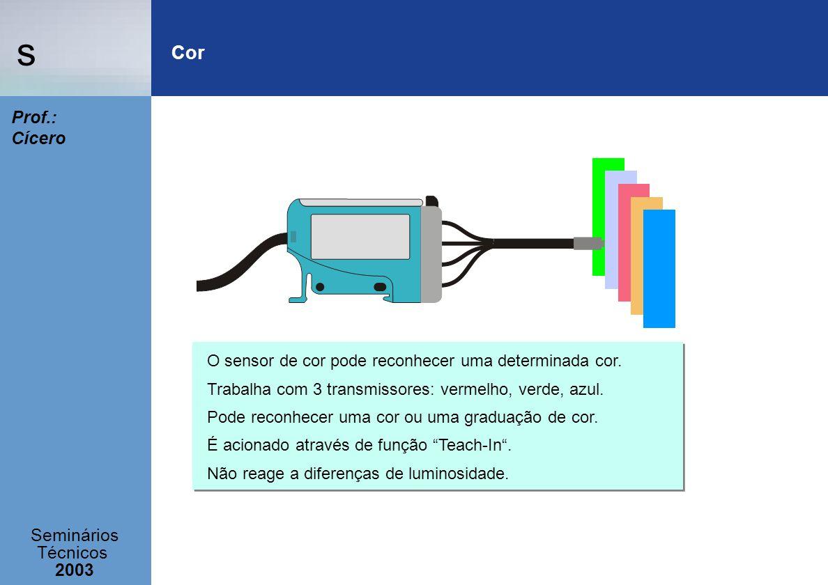 Cor O sensor de cor pode reconhecer uma determinada cor.