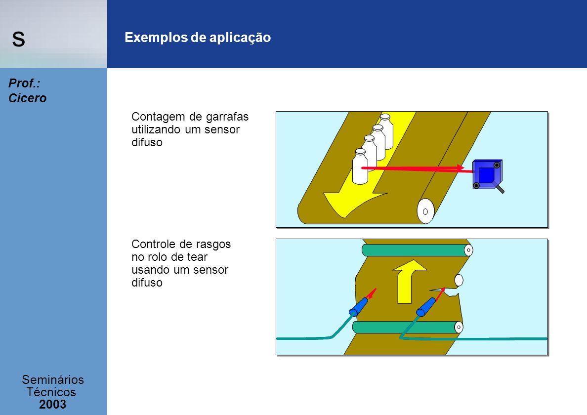 Exemplos de aplicação Contagem de garrafas utilizando um sensor difuso