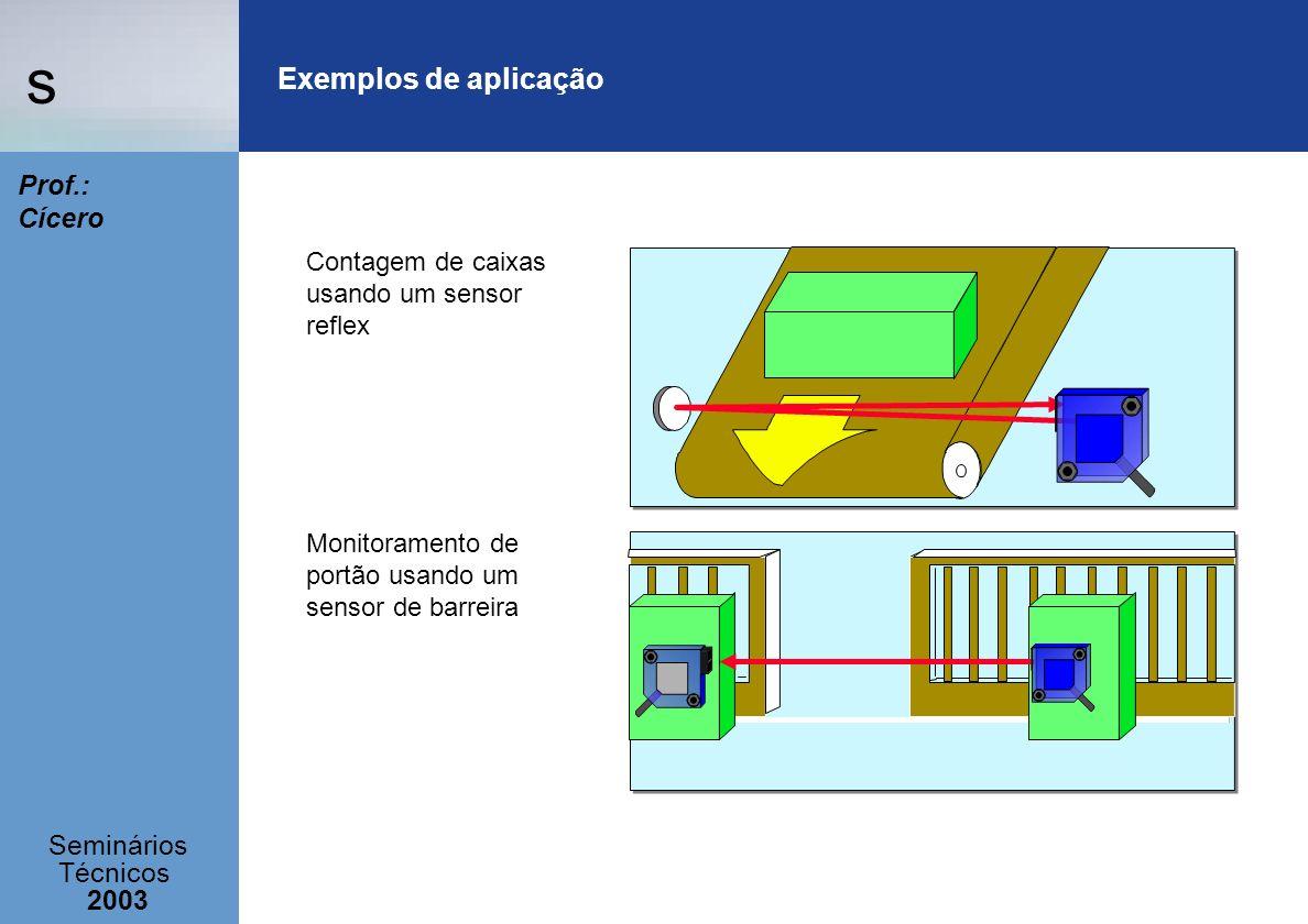 Exemplos de aplicação Contagem de caixas usando um sensor reflex
