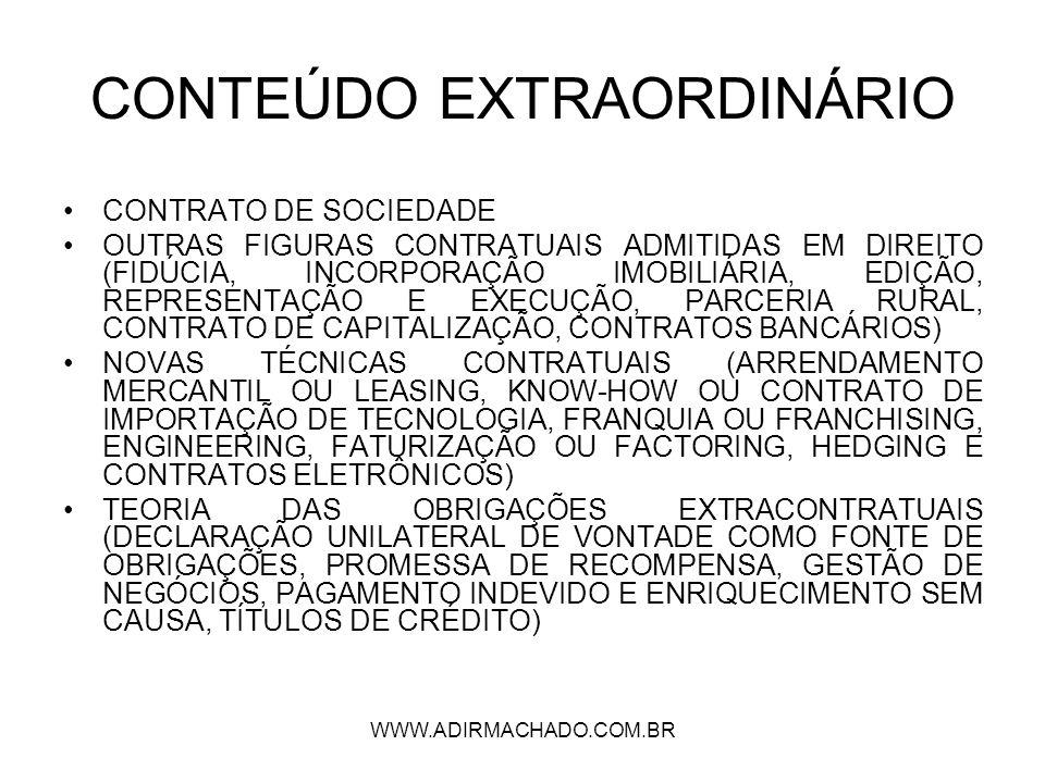 CONTEÚDO EXTRAORDINÁRIO