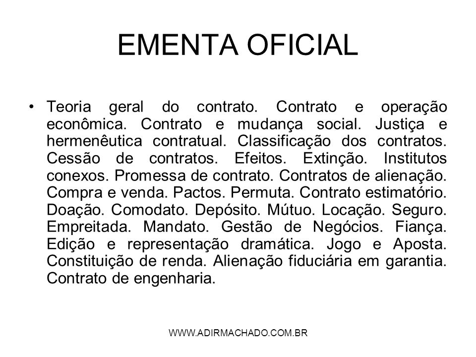 EMENTA OFICIAL