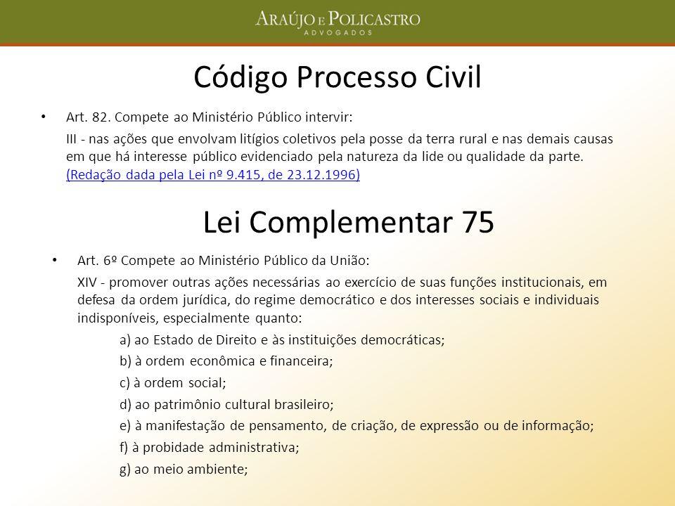 Código Processo Civil Lei Complementar 75