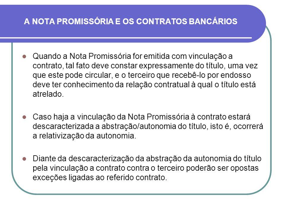 A NOTA PROMISSÓRIA E OS CONTRATOS BANCÁRIOS