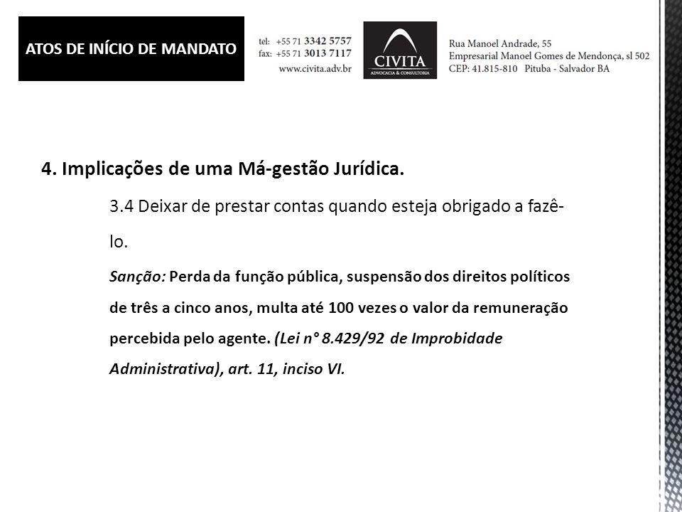 ATOS DE INÍCIO DE MANDATO