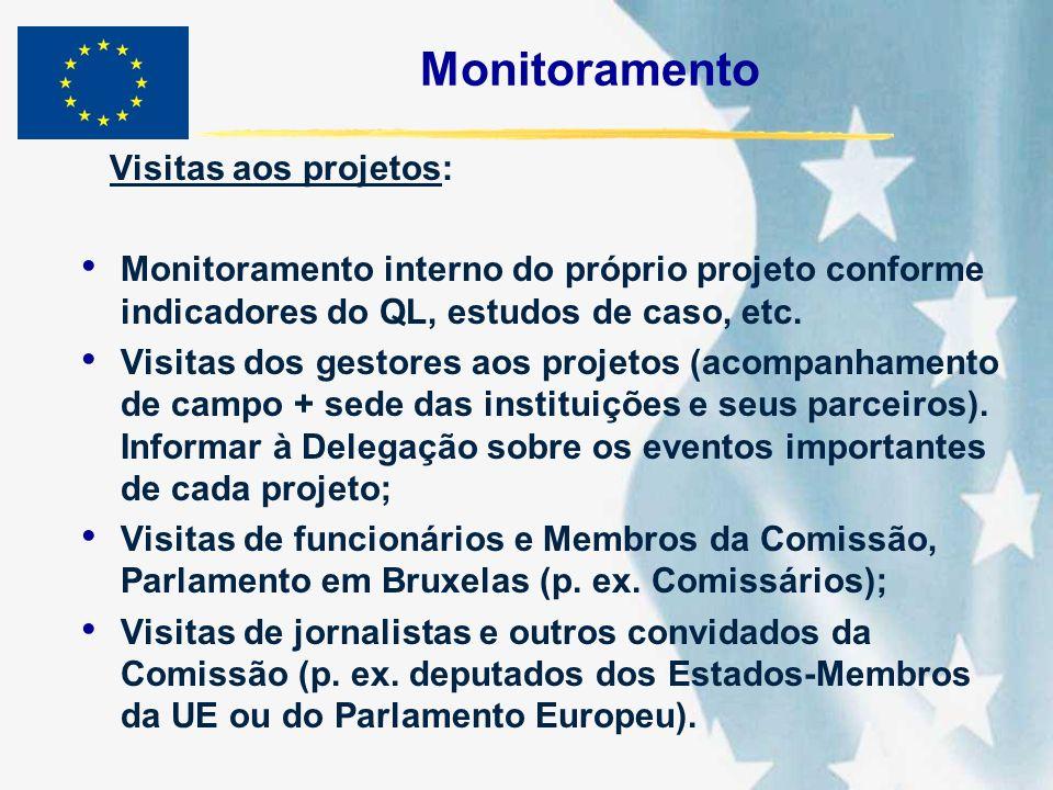 Monitoramento Visitas aos projetos: