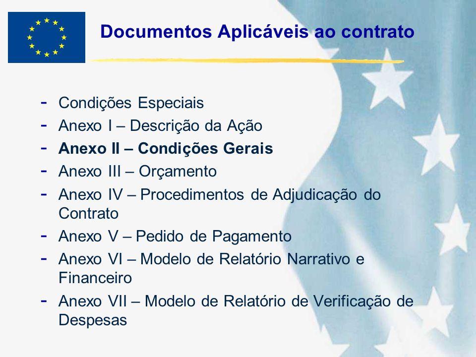 Documentos Aplicáveis ao contrato