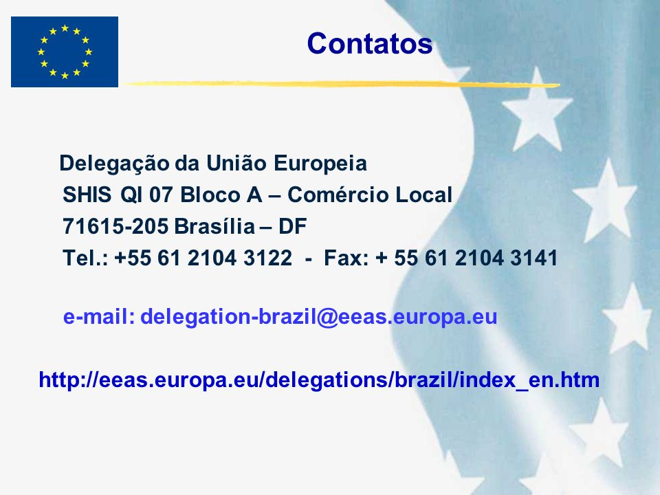 Contatos SHIS QI 07 Bloco A – Comércio Local 71615-205 Brasília – DF