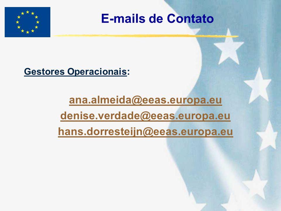 E-mails de Contato ana.almeida@eeas.europa.eu