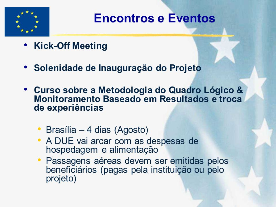 Encontros e Eventos Kick-Off Meeting