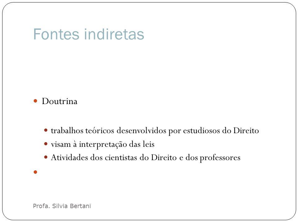 Fontes indiretas Doutrina