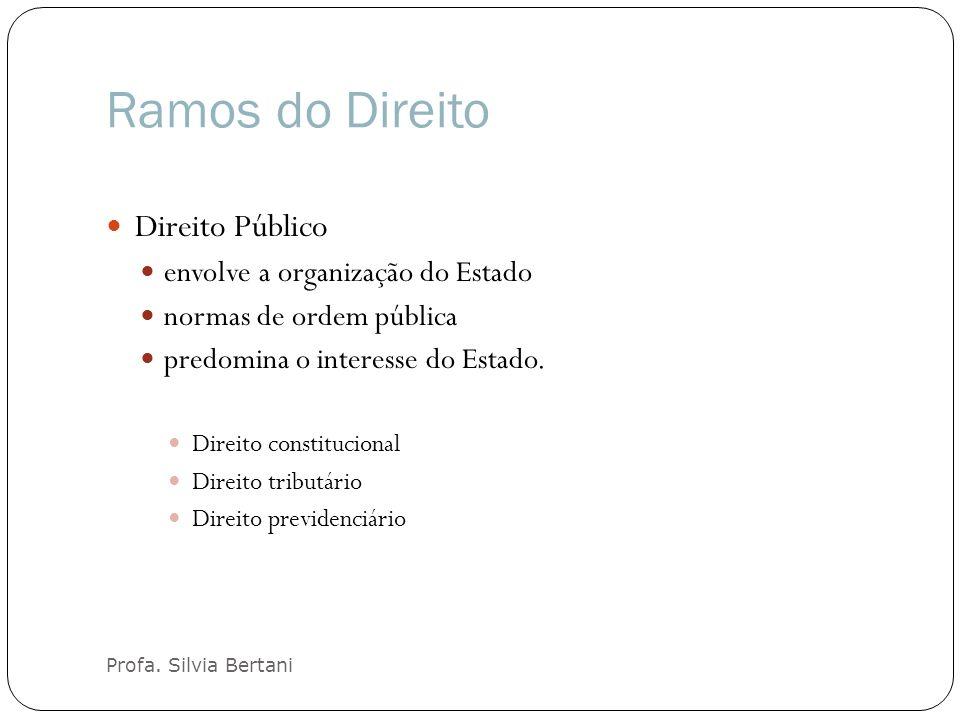 Ramos do Direito Direito Público envolve a organização do Estado