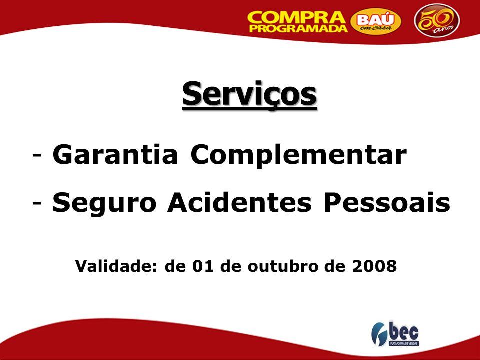 Serviços Garantia Complementar Seguro Acidentes Pessoais