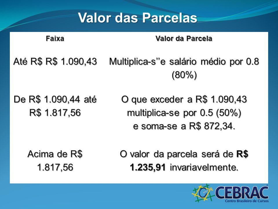 Valor das Parcelas Até R$ R$ 1.090,43