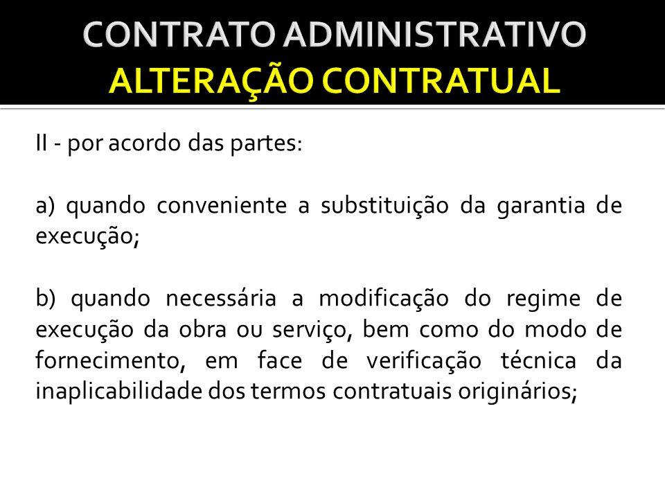 CONTRATO ADMINISTRATIVO ALTERAÇÃO CONTRATUAL