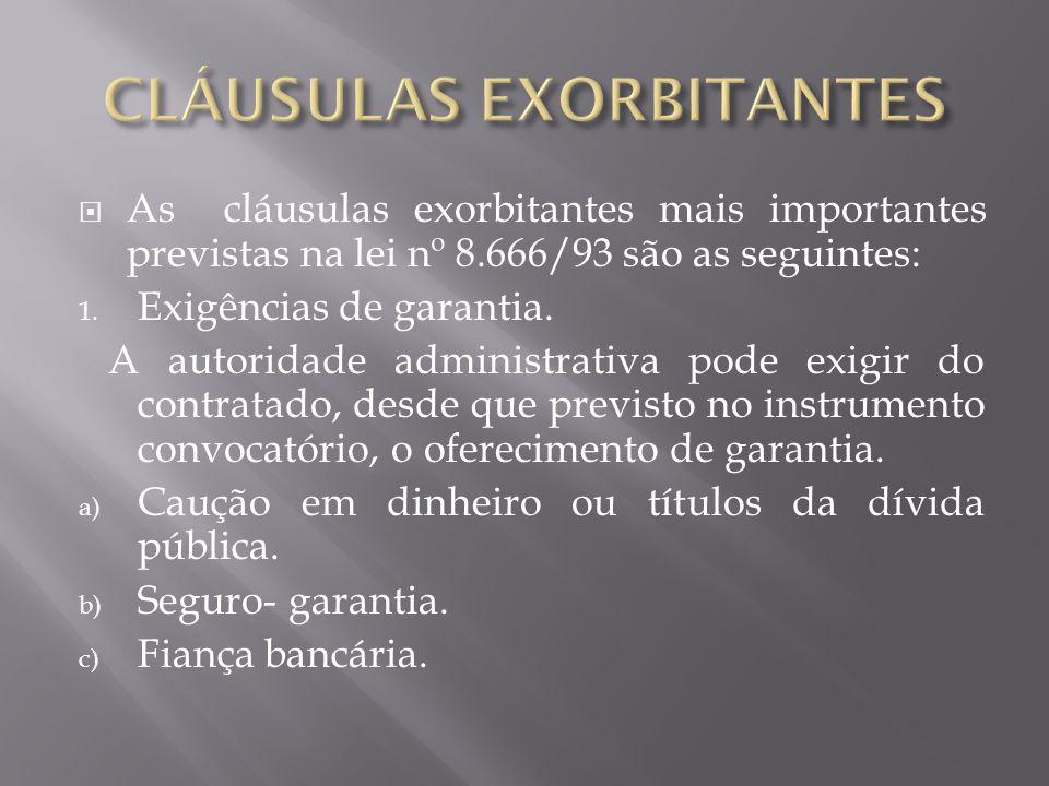 CLÁUSULAS EXORBITANTES