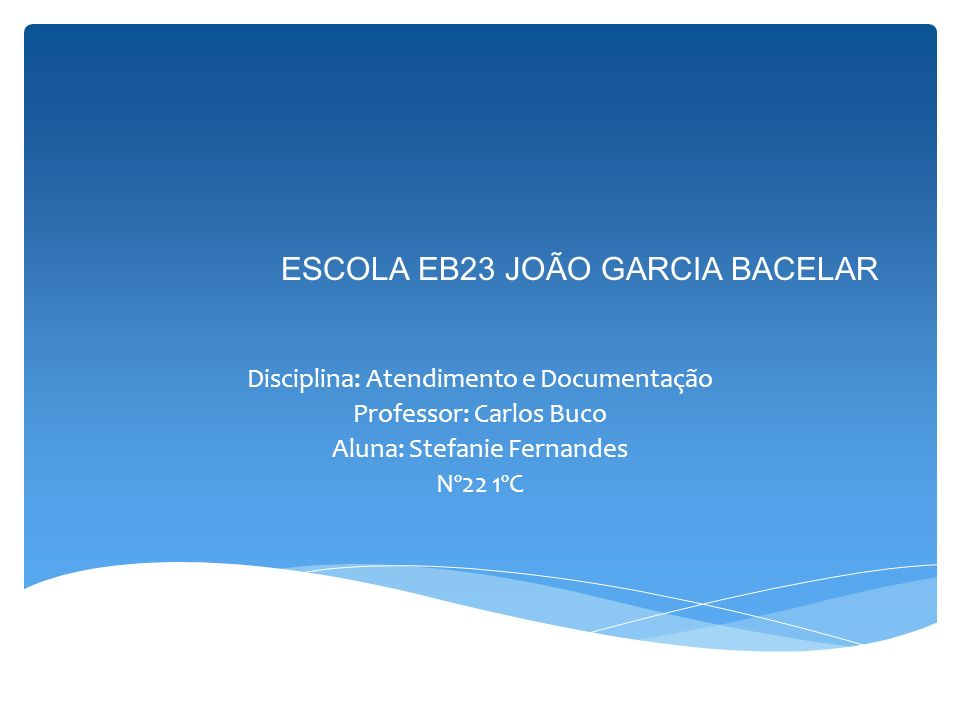 ESCOLA EB23 JOÃO GARCIA BACELAR
