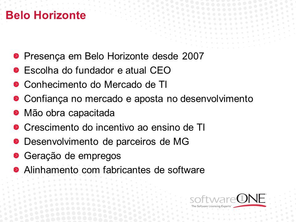 Belo Horizonte Presença em Belo Horizonte desde 2007