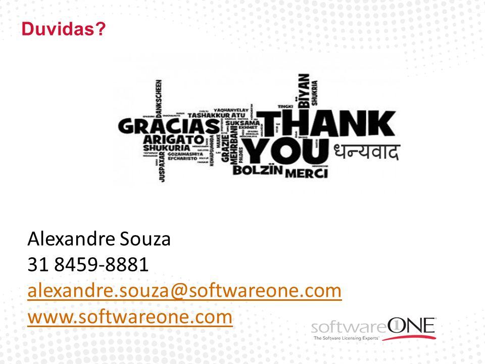 Alexandre Souza 31 8459-8881 alexandre.souza@softwareone.com