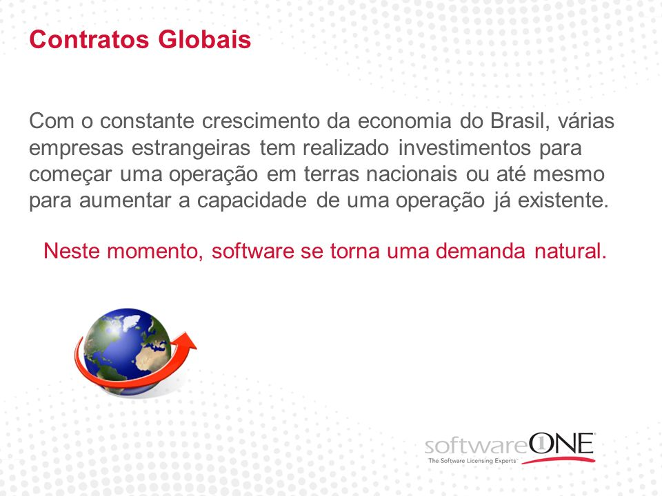Neste momento, software se torna uma demanda natural.