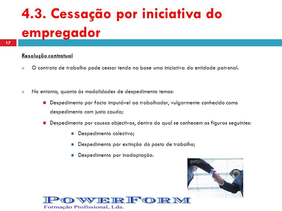 4.3. Cessação por iniciativa do empregador