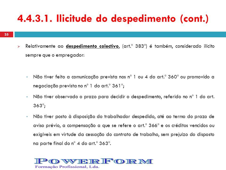 4.4.3.1. Ilicitude do despedimento (cont.)