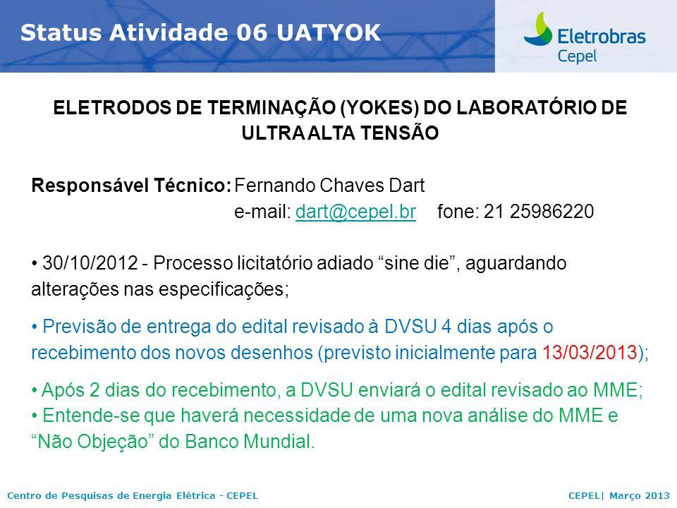 ELETRODOS DE TERMINAÇÃO (YOKES) DO LABORATÓRIO DE ULTRA ALTA TENSÃO
