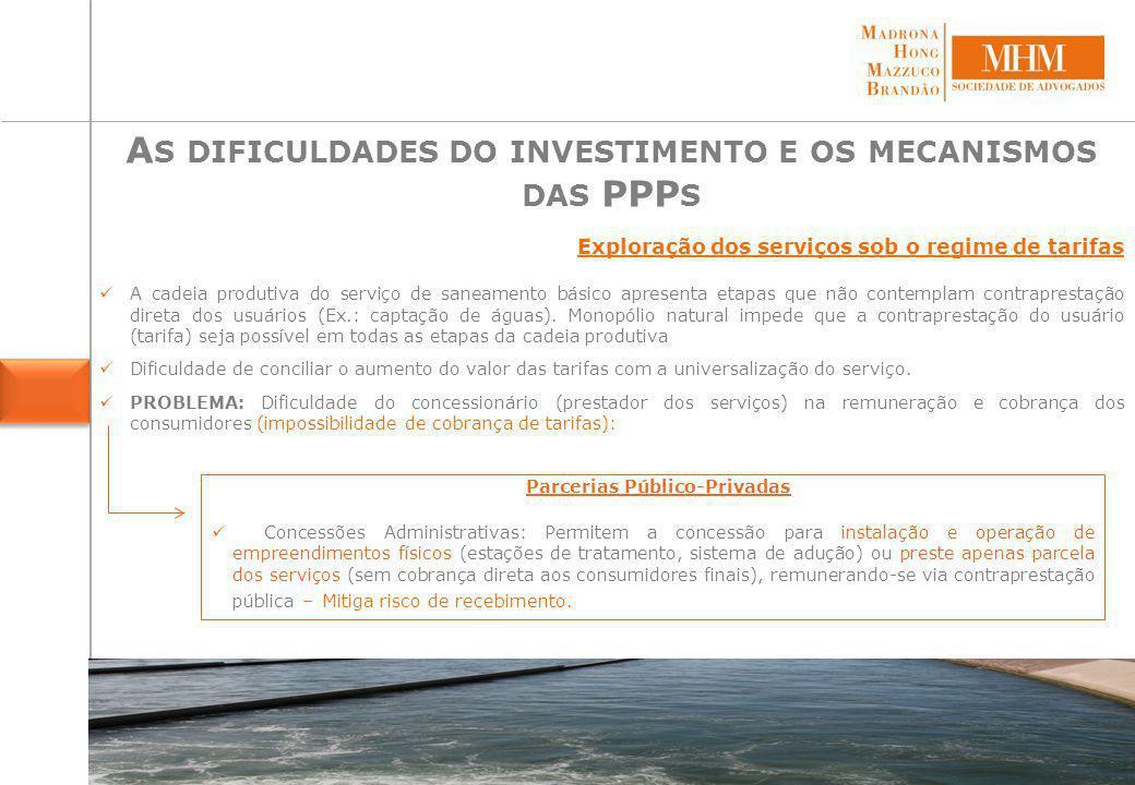As dificuldades do investimento e os mecanismos das PPPs