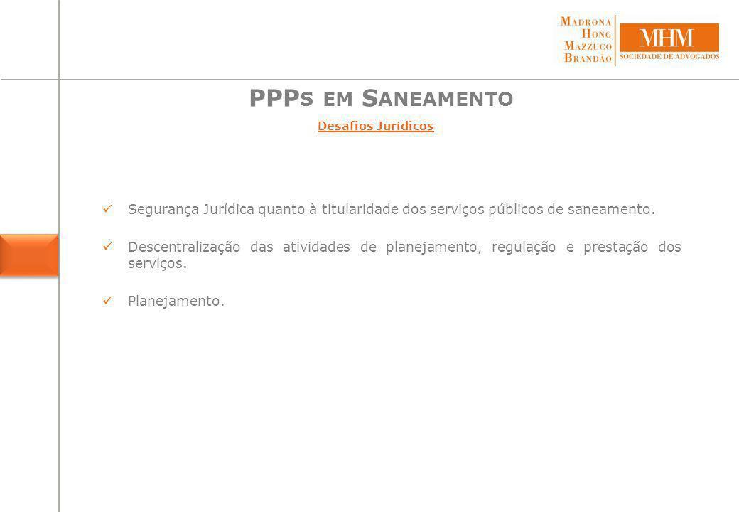 PPPs em Saneamento Projetos em operação*