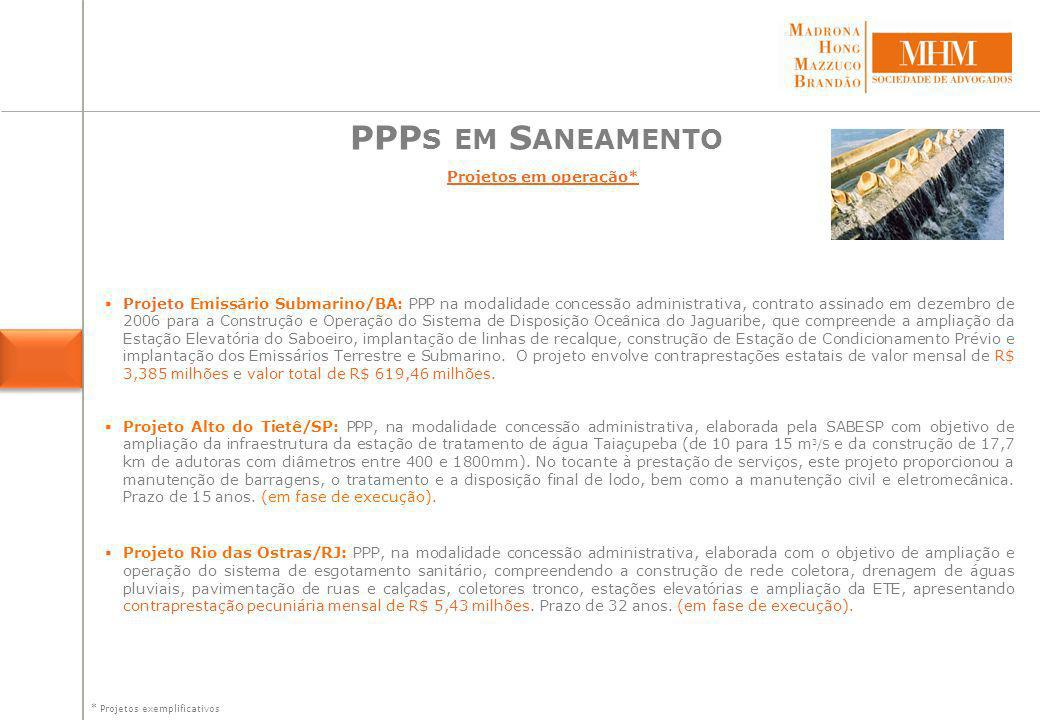 PPPs em Saneamento Projetos Descrição do Projeto Estado