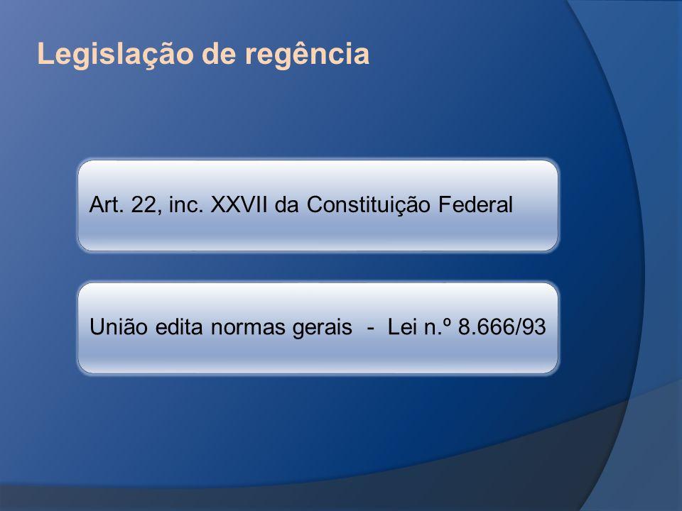 Legislação de regência