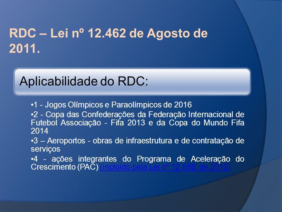Aplicabilidade do RDC: