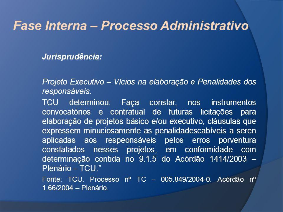 Fase Interna – Processo Administrativo