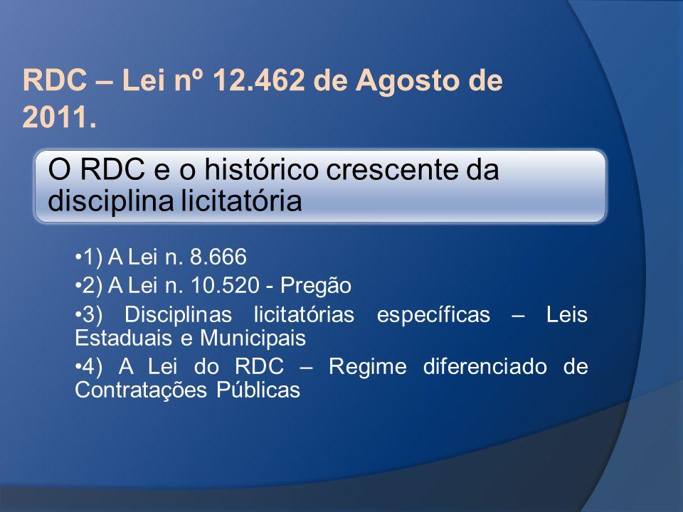 O RDC e o histórico crescente da disciplina licitatória