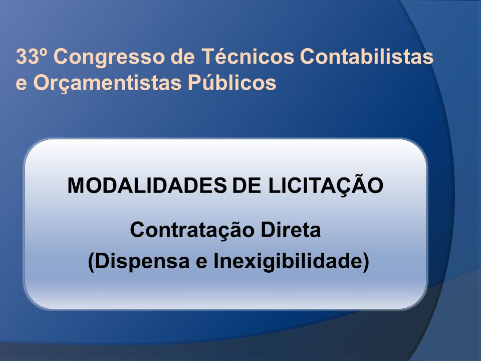 33º Congresso de Técnicos Contabilistas e Orçamentistas Públicos