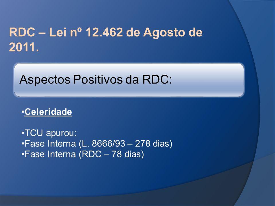 Aspectos Positivos da RDC: