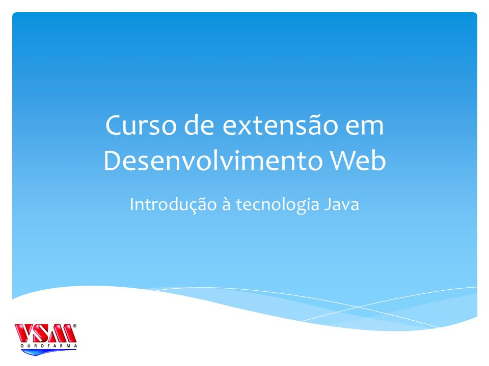 Curso de extensão em Desenvolvimento Web