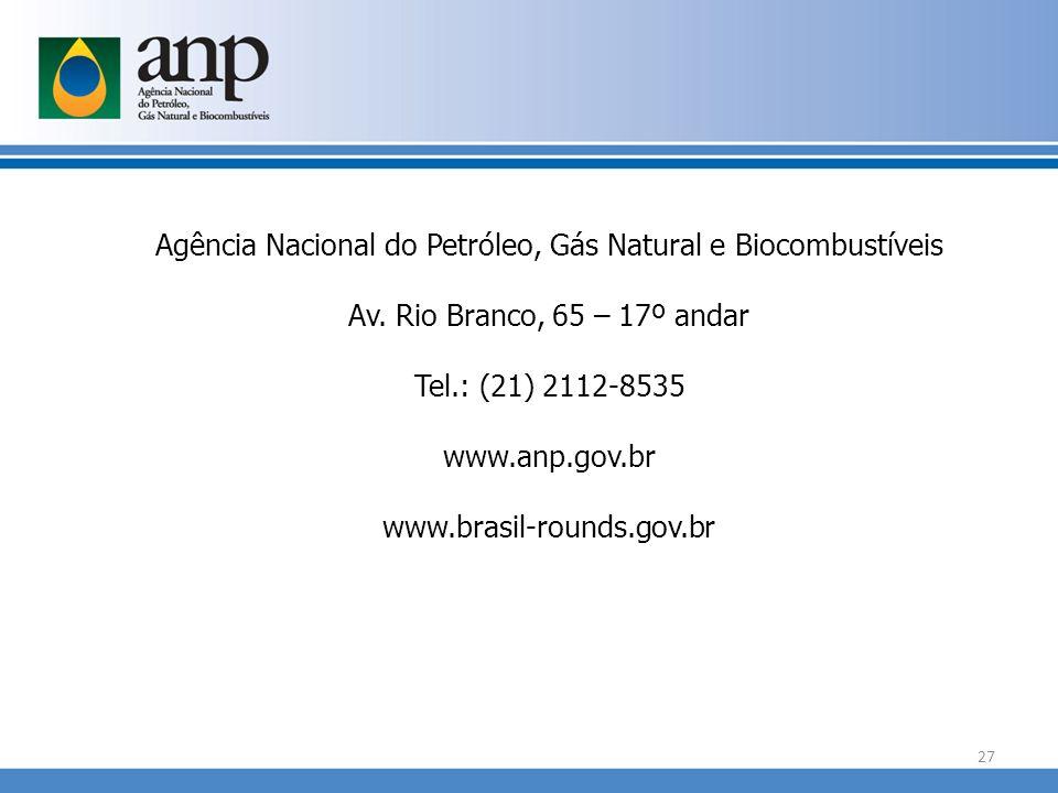 Agência Nacional do Petróleo, Gás Natural e Biocombustíveis Av