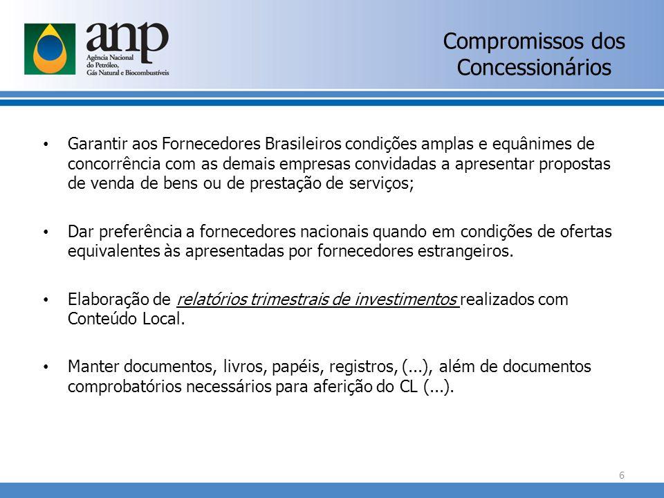 Compromissos dos Concessionários