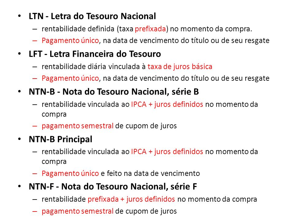 LTN - Letra do Tesouro Nacional