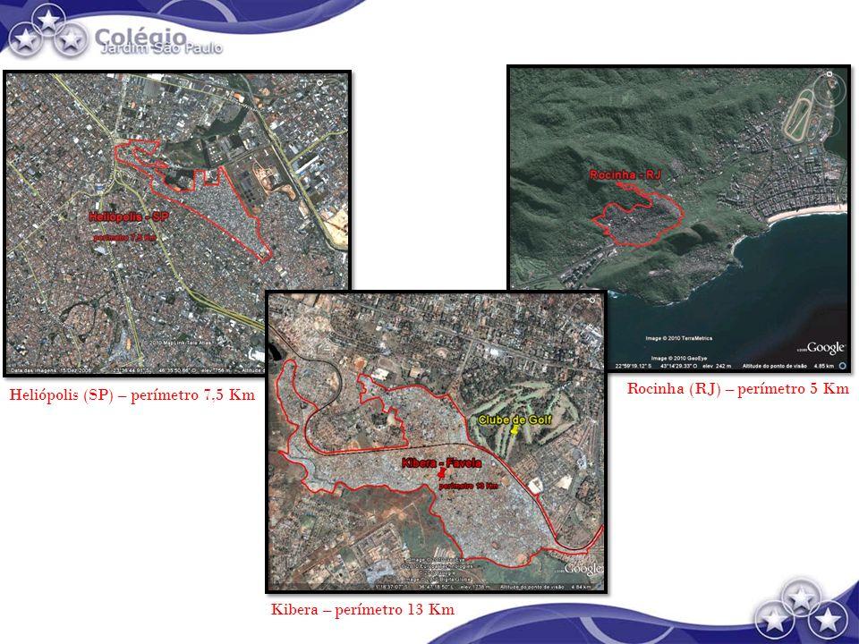 Rocinha (RJ) – perímetro 5 Km