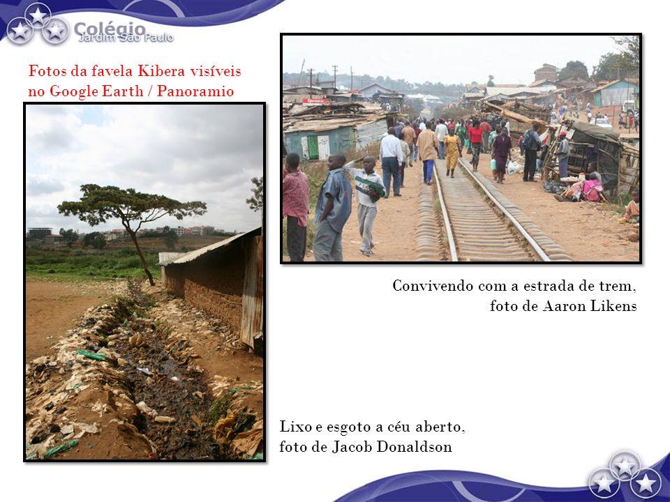 Fotos da favela Kibera visíveis