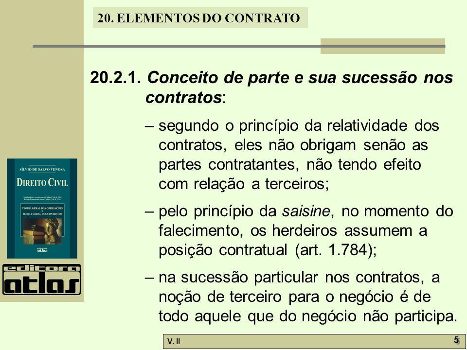 20.2.1. Conceito de parte e sua sucessão nos contratos: