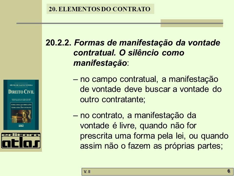 20. 2. 2. Formas de manifestação da vontade contratual