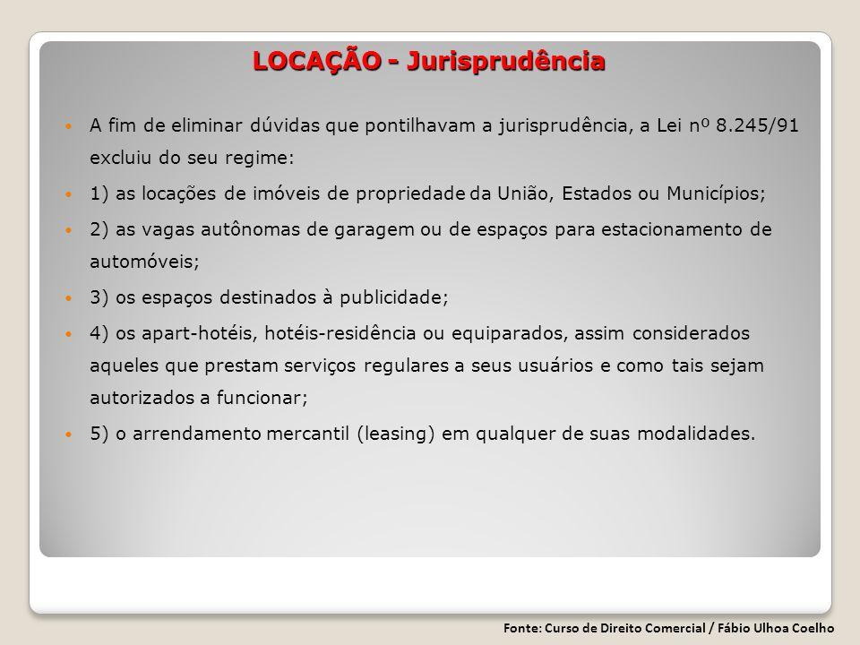 LOCAÇÃO - Jurisprudência
