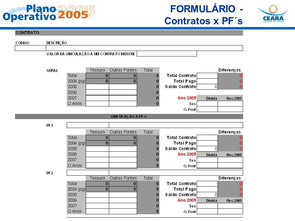 FORMULÁRIO - Contratos x PF´s