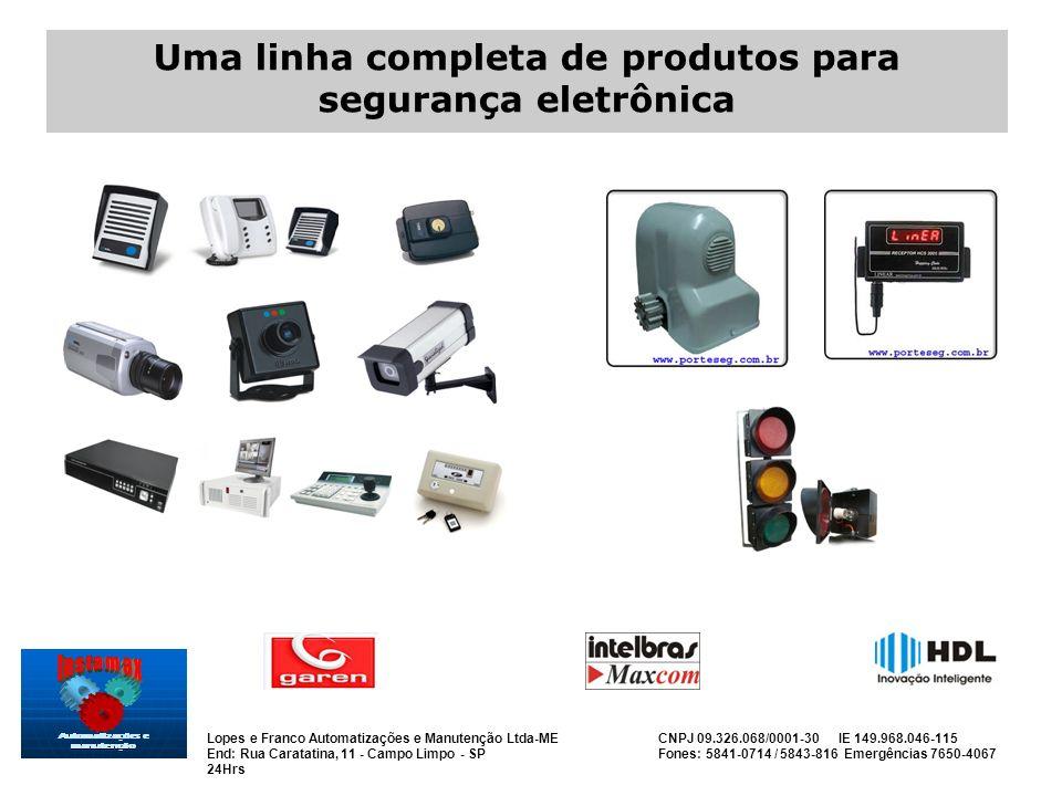 Uma linha completa de produtos para segurança eletrônica