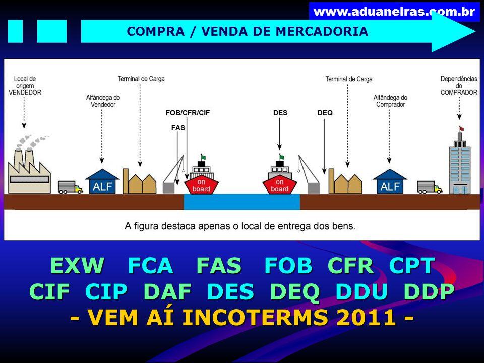 EXW FCA FAS FOB CFR CPT CIF CIP DAF DES DEQ DDU DDP
