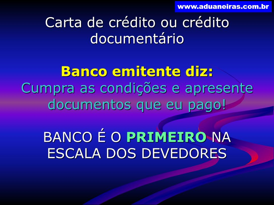 Carta de crédito ou crédito documentário