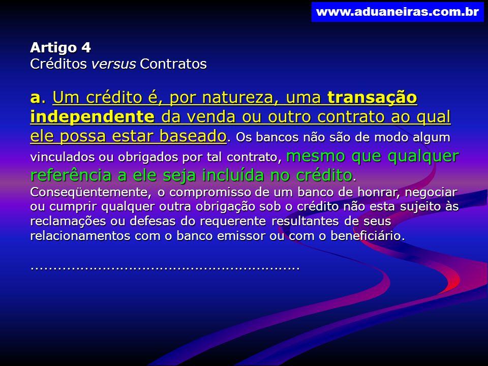 Artigo 4 Créditos versus Contratos.
